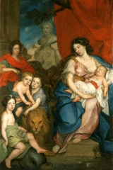 Siemiginowski_Marie_Casimire_with_children
