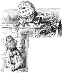 'When I use a word,' Humpty Dumpty said, in rather a scornful tone, 'it means just what I choose it to mean — neither more nor less.'