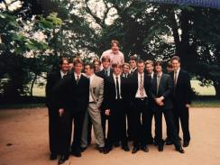 Eton Choral Course about 2000. Guess which is Hugh